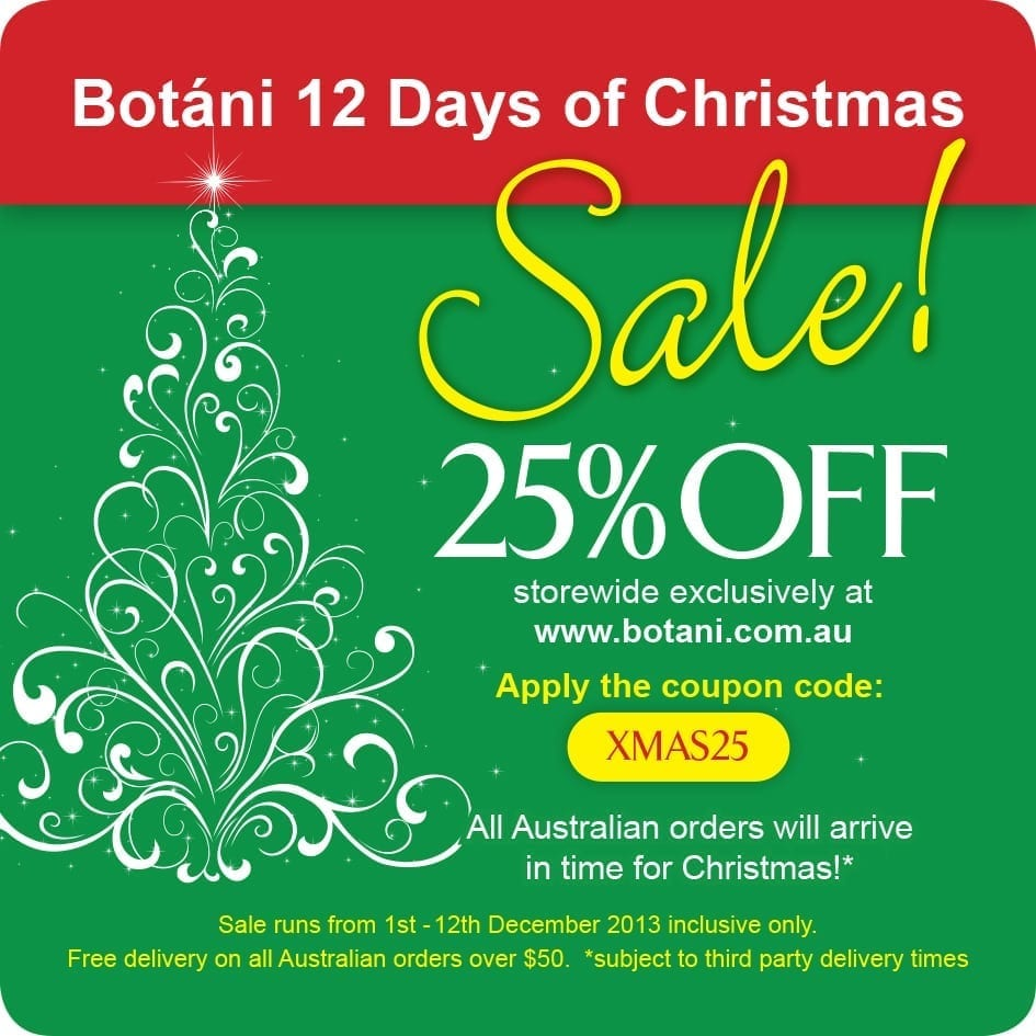 Botani 12 Days Of Christmas Giveaway