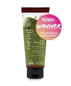 Botani Olive Hand & Body Cream Natural Beauty Awards 2019 Badge