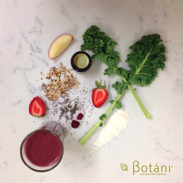 selection of superfoods for glowing skin