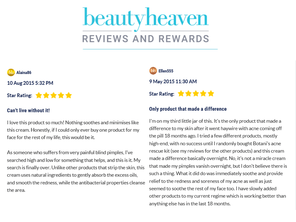 beauty heaven review, botani skin care