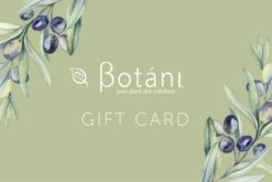 Botani skincare, gift cards, natural skin care