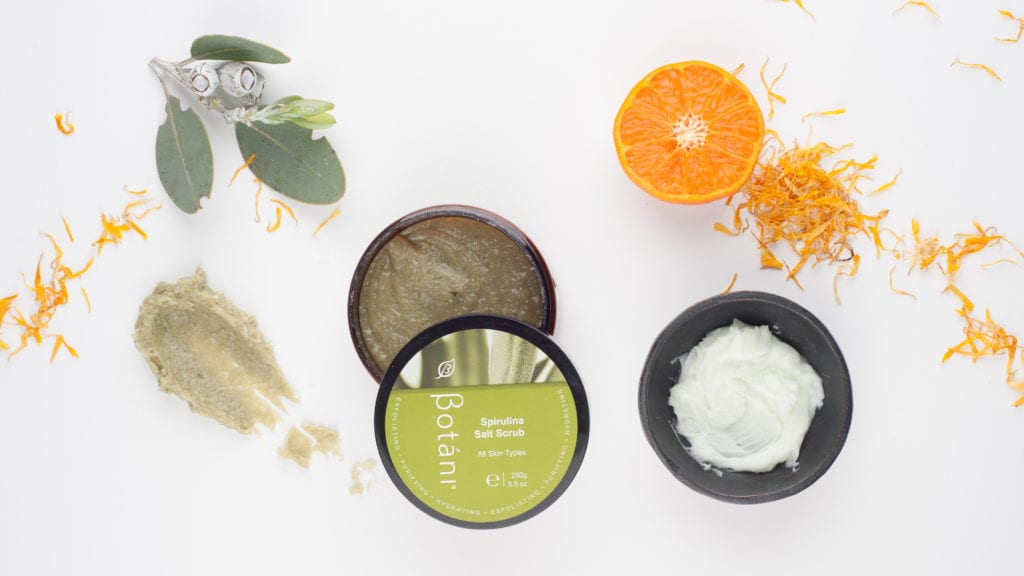 Botani Spirulina Salt Scrub with orange peel